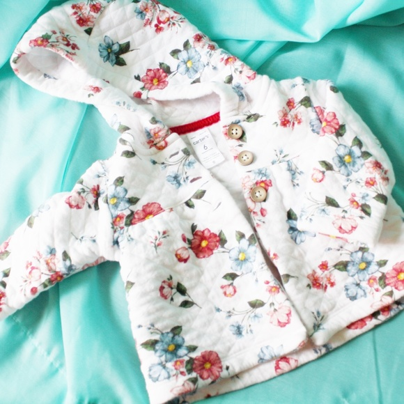 477201ba2 Carter's Jackets & Coats | Carters Floral Quilted Coatjacket 6 Month ...